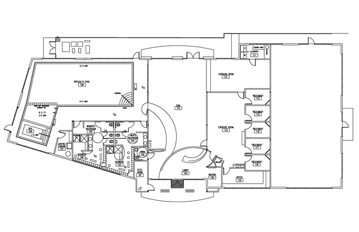 Floor Plans For Physical Therapy Clinic: El Dorado Physical Therapy : Healthcare Interior Design